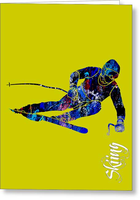 Alpine Greeting Cards - Skiing Collection Greeting Card by Marvin Blaine