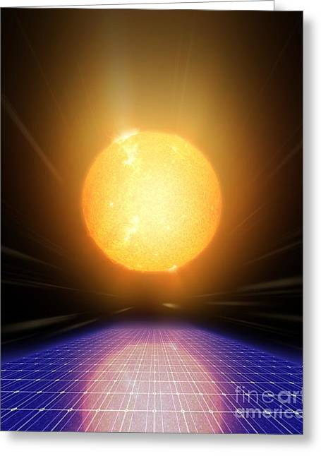 Non-polluting Greeting Cards - Solar Power, Conceptual Artwork Greeting Card by Detlev van Ravenswaay