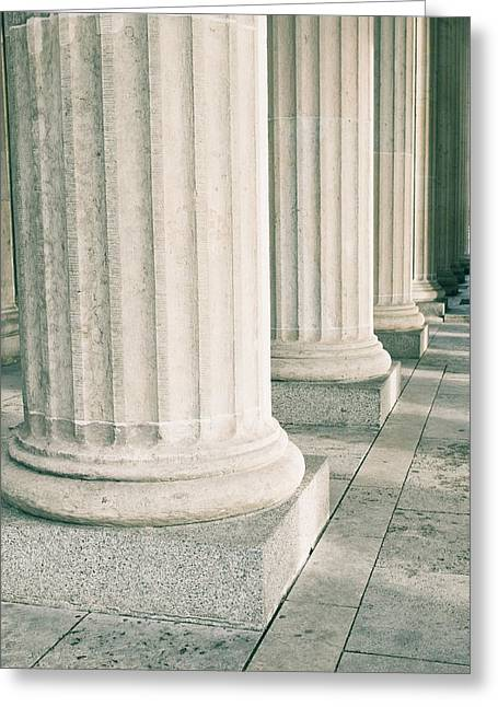 Conditions Greeting Cards - Stone pillars Greeting Card by Tom Gowanlock