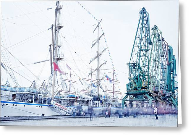 Tall Ships Greeting Cards - Tall Ships Regatta Varna Greeting Card by Pavel Gospodinov