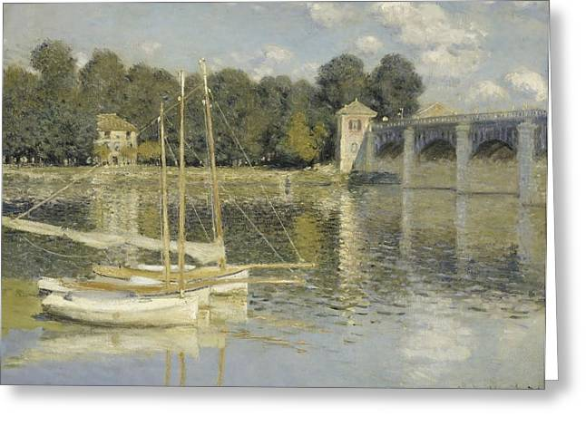 Brdige Greeting Cards - The Argenteuil Bridge Greeting Card by Treasury Classics  Art