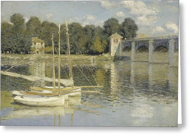 Brdige Greeting Cards - The Argenteuil Bridge Greeting Card by Claude Monet