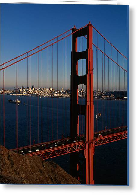 The Golden Gate Bridge Greeting Card by American School