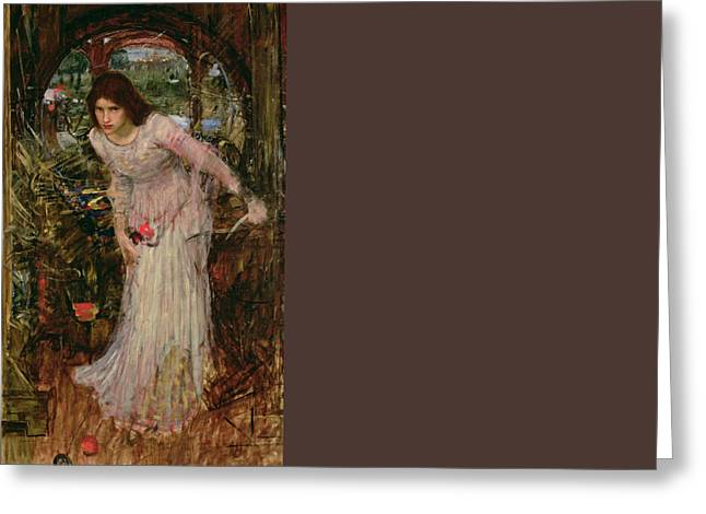 King Arthur Greeting Cards - The Lady of Shalott Greeting Card by John William Waterhouse