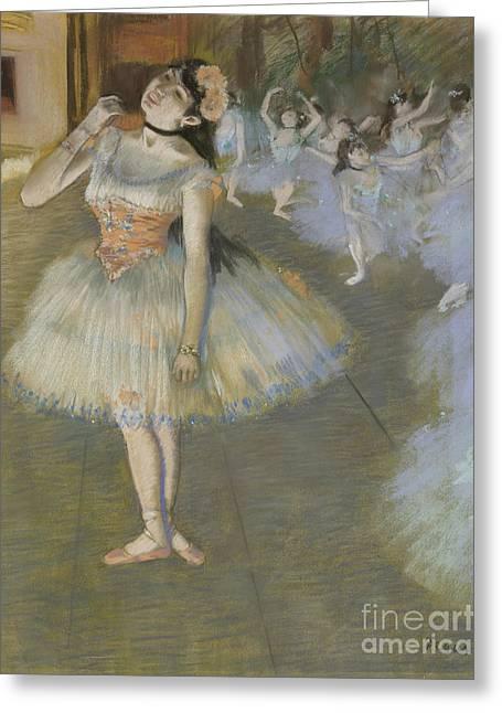 The Star Greeting Card by Edgar Degas