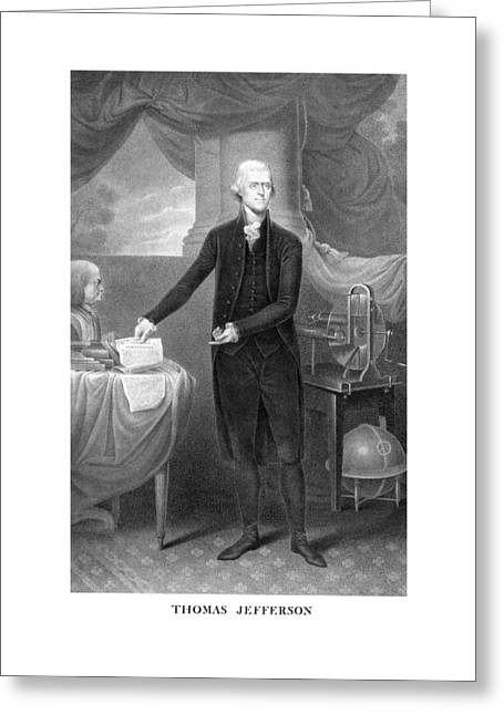 Monticello Greeting Cards - Thomas Jefferson Greeting Card by War Is Hell Store