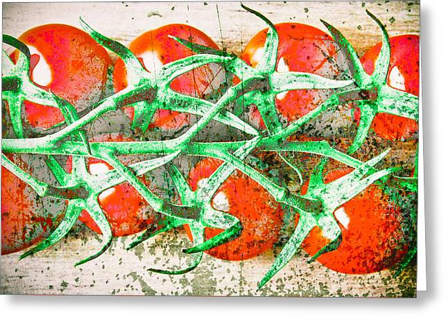 Produce Greeting Cards - Tomatoes Greeting Card by Tom Gowanlock