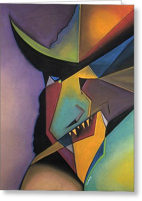Cubist Pastels Greeting Cards - Untitled Greeting Card by Tracey Levine