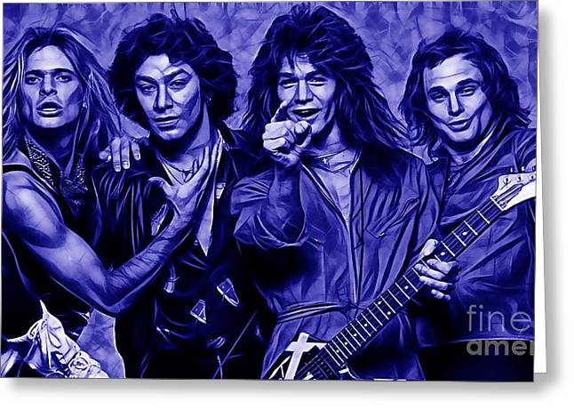 Van Halen Collection Greeting Card by Marvin Blaine