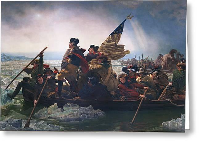 Washington Crossing The Delaware Greeting Card by Emanuel Leutze