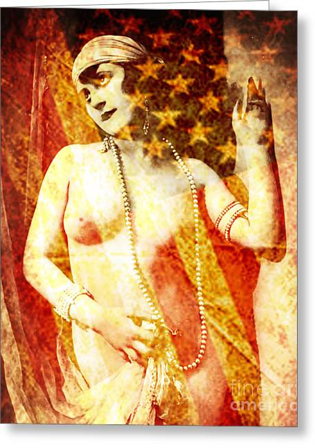 American Pop Culture Greeting Cards - Winsome Woman Greeting Card by Chris Andruskiewicz