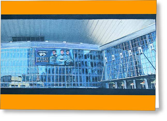 Tn Mixed Media Greeting Cards - #60 Going to a Predators Game Greeting Card by Alison Poland