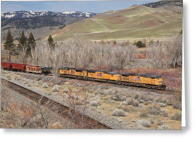 6056 Eastbound Greeting Card by Donna Kennedy