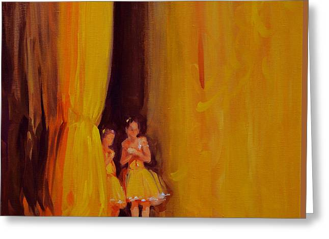 Ballet Dancers Greeting Cards - 606 In Yellow Greeting Card by Chuck Larivey