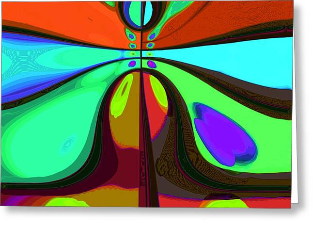 Abstract Expression Greeting Cards - 60s Free Love Greeting Card by Alec Drake