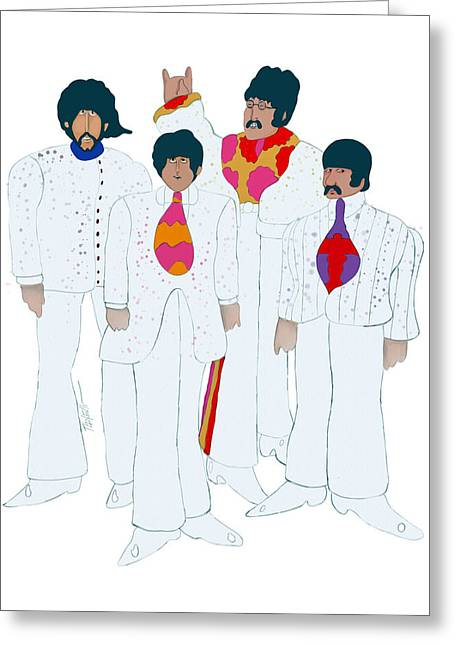 Rocks Drawings Greeting Cards - 60s Love... Yellow Submarine Greeting Card by Mark Tonelli