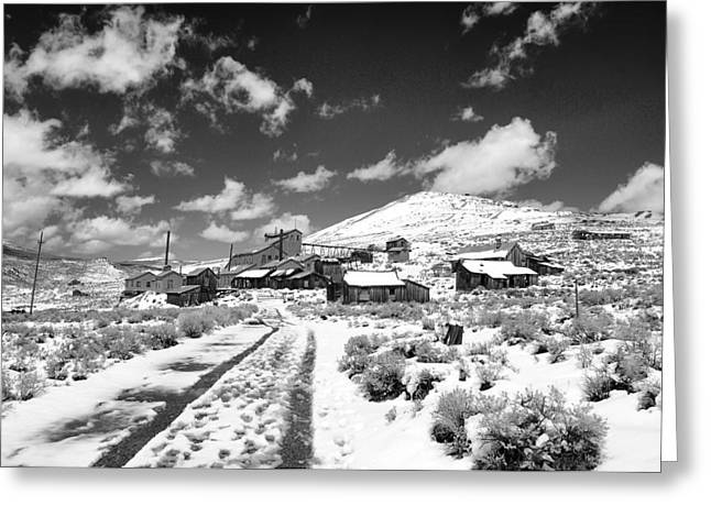 Saloons Greeting Cards - Bodie Ghost Town Greeting Card by Maria Jansson
