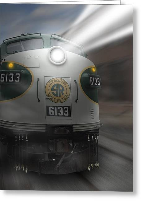 Railroad Tracks Greeting Cards - 6133 On the Move Greeting Card by Mike McGlothlen