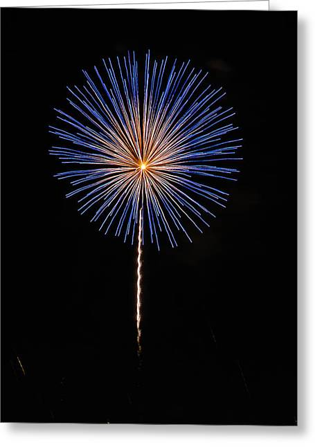 Illuminate Greeting Cards - Fireworks Greeting Card by Buddy Woods