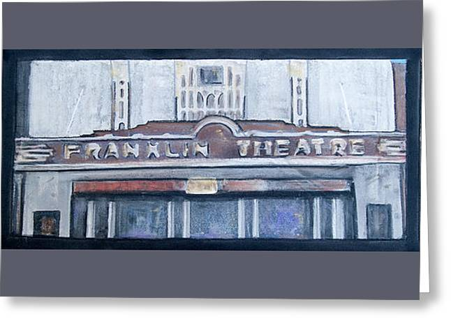 Historic Franklin Tennessee Greeting Cards - #62 Going to the Franklin Theatre Greeting Card by Alison Poland