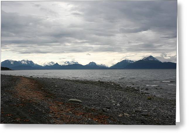 Log Cabins Greeting Cards - Alaska outdoors Greeting Card by Arun Subramanian
