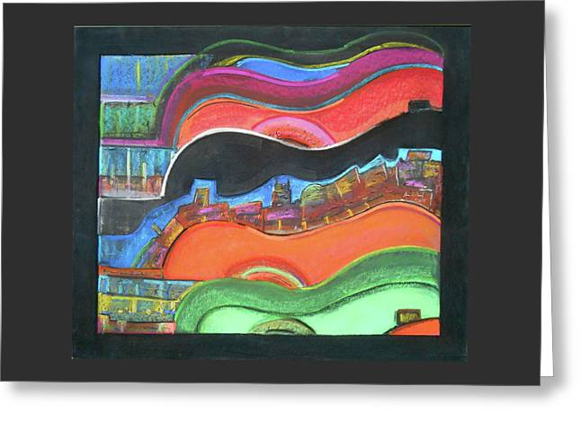 Tn Mixed Media Greeting Cards - #65 Music City Twist Greeting Card by Alison Poland