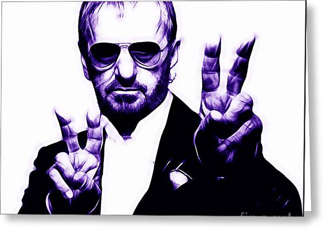 Pop Star Greeting Cards - Ringo Starr Collection Greeting Card by Marvin Blaine