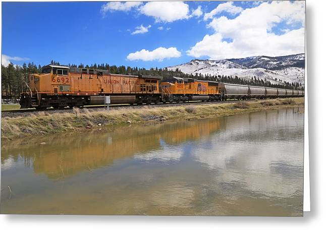 6692 Eastbound Greeting Card by Donna Kennedy