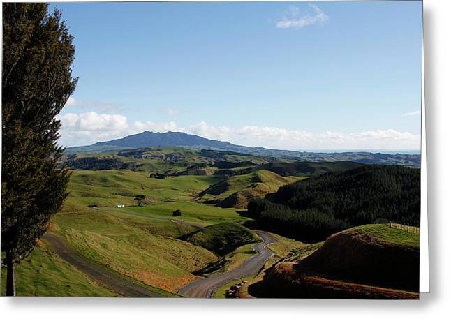 New Zealand Greeting Card by Les Cunliffe