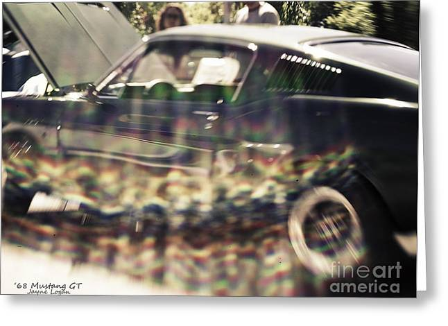 Living Space Greeting Cards - 68 Ford Mustang GT Greeting Card by Jayne Logan Intveld