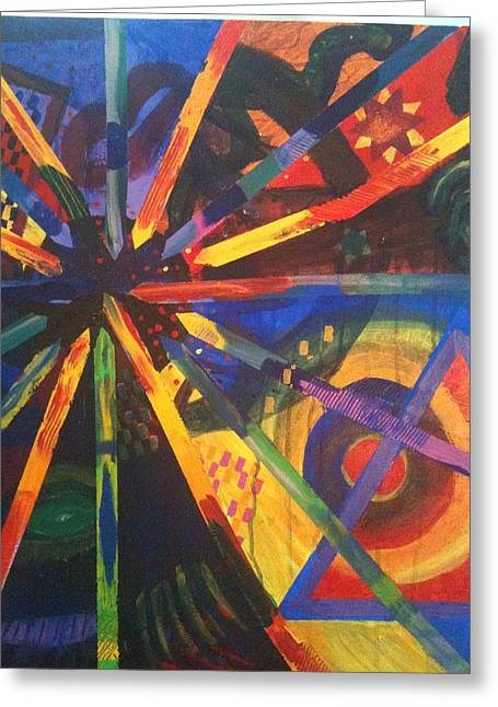Today I Feeling Abstract Greeting Card by Kaayla Halen