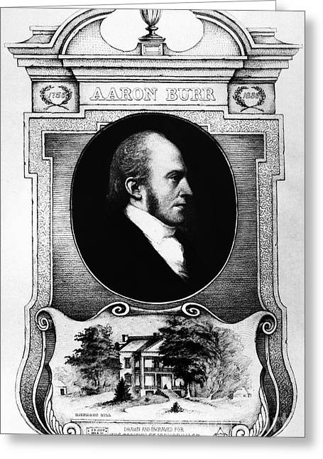 Burr Greeting Cards - Aaron Burr (1756-1836) Greeting Card by Granger