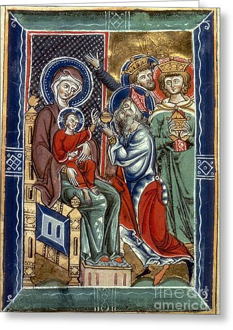 Saint Joseph Greeting Cards - Adoration Of Magi Greeting Card by Granger