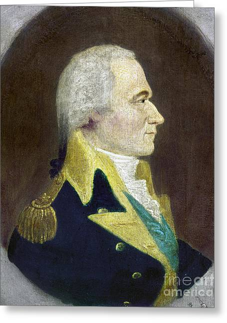 American Politician Greeting Cards - Alexander Hamilton Greeting Card by Granger