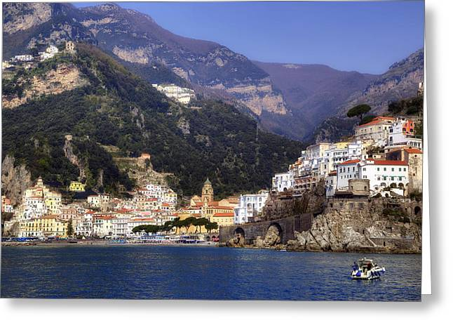 Amalfi Coast Greeting Cards - Amalfi - Amalfi Coast Greeting Card by Joana Kruse
