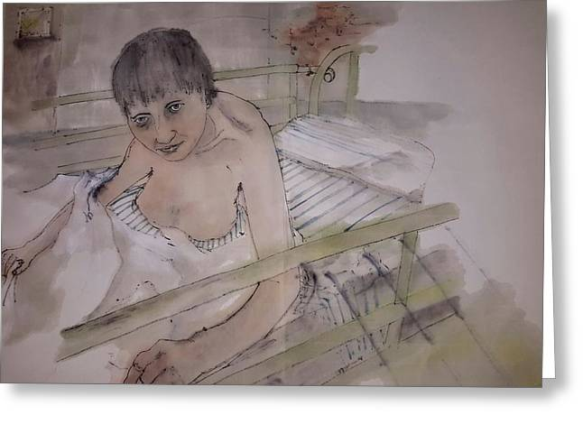 Mental Paintings Greeting Cards - Another look at mental illness album  Greeting Card by Debbi Chan