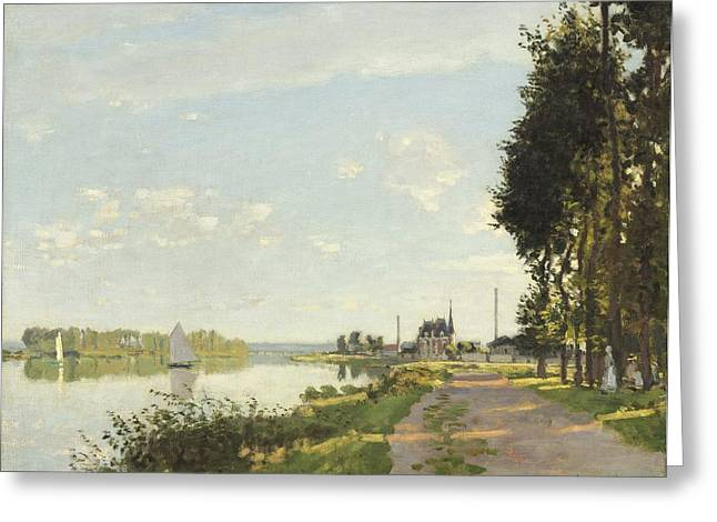 Besides Greeting Cards - Argenteuil Greeting Card by Claude Monet