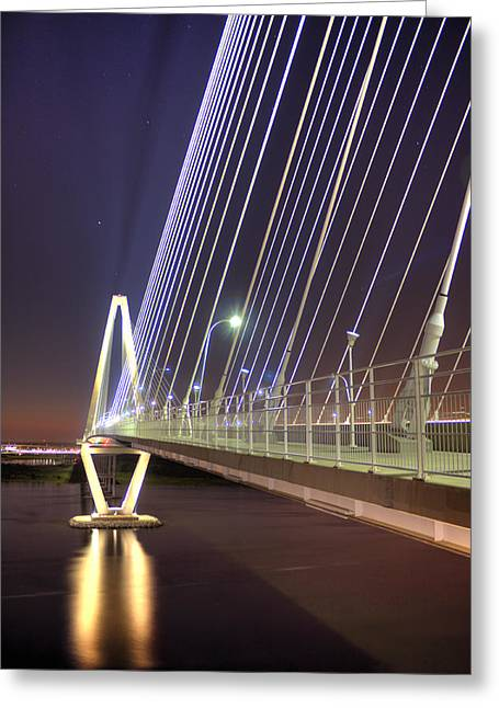 Arthur Greeting Cards - Arthur Ravenel Jr. Bridge  Greeting Card by Dustin K Ryan