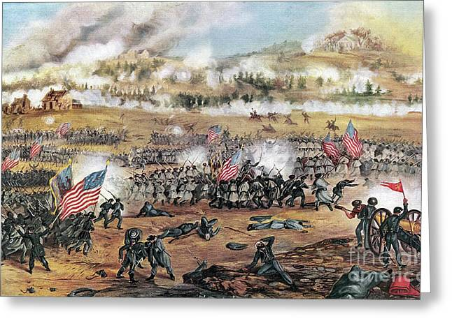 Height Greeting Cards - Battle Of Fredericksburg Greeting Card by Granger