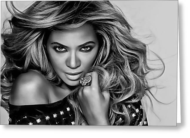 Celebrity Greeting Cards - Beyonce Collection Greeting Card by Marvin Blaine