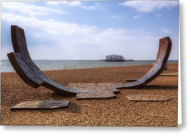 Sussex Greeting Cards - Brighton Greeting Card by Joana Kruse