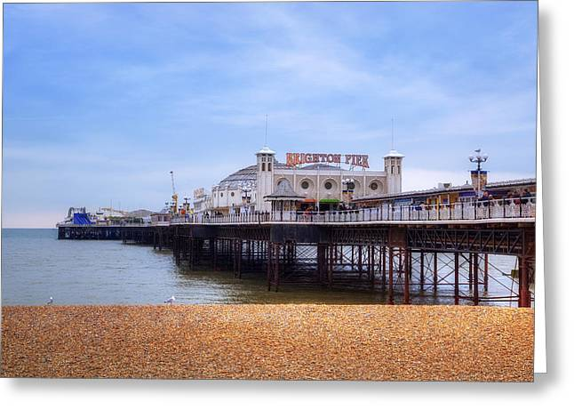 Sussex Greeting Cards - Brighton Pier Greeting Card by Joana Kruse