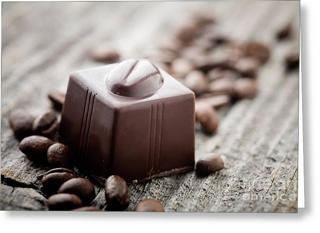 Chocolate Pralines Greeting Cards - Chocolate Greeting Card by Kati Molin