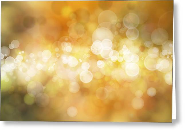 Background Greeting Cards - Circles background Greeting Card by Les Cunliffe