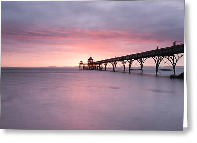 Clevedon Pier Greeting Card by Don Hooper