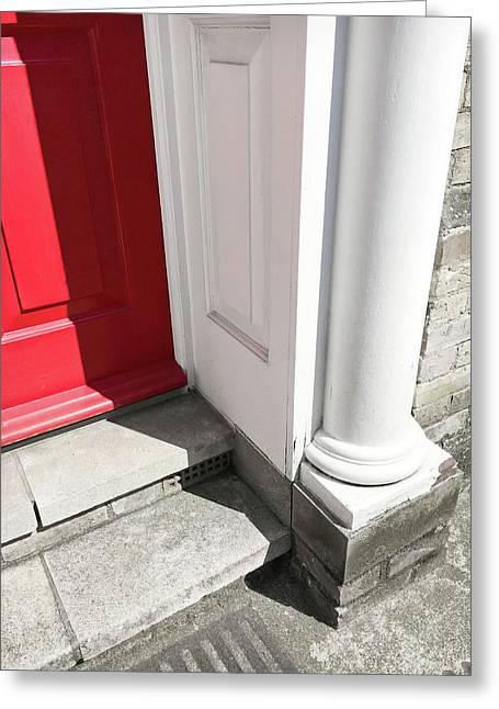 Entrance Steps Greeting Card by Tom Gowanlock