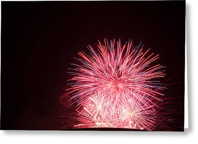 July 4th Pyrography Greeting Cards - Fireworks Greeting Card by Erich Boehm