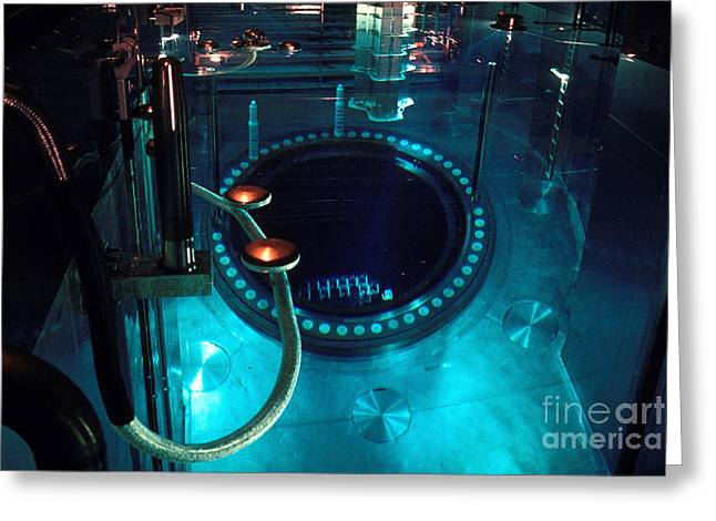 Power Plants Greeting Cards - Flamanville Nuclear Power Plant Greeting Card by Catherine Pouedras