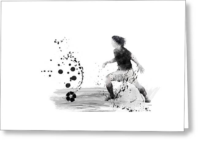 Player Greeting Cards - Football Player Greeting Card by Marlene Watson