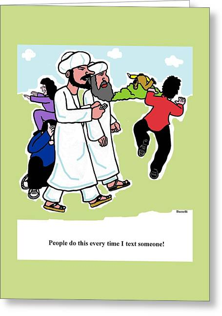 Cartoonist Greeting Cards - Gag Cartoon Greeting Card by Ray Buzzelli